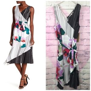 Rachel Rachel Roy Amalfi Wrap Dress Watercolors 1X